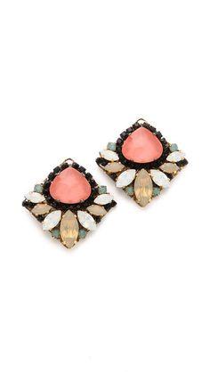 Crystal Stud Earrings #love