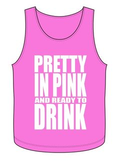 Pretty in Pink Tank $20.00