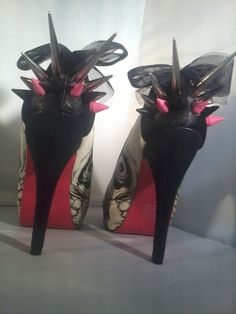 Spiked Skull High Heels by MrRobbieRotten on Etsy, $100.00