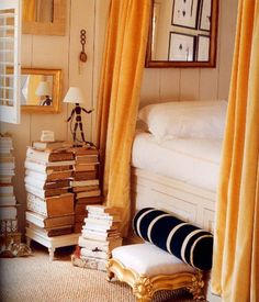 love the way books are stacked for a side table
