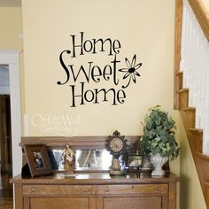Home Sweet Home vinyl wall art decal by OffTheWallExpression, $13.00