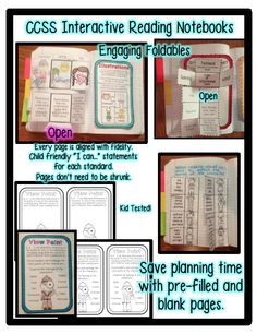 Use this 2nd grade interactive reading notebook to address 100% of the Common Core Reading Standards: Foundational Skills, Literature, and Informational Text. This interactive readers notebook is a must for every second grade classroom implementing common core. Fidelity is maintained to reflect the increase of complex text while engaging students in a non-threatening way. True to the Common Core Standards!!! Visit me for 1st, 2nd, & 3rd Grade Interactive Notebooks.