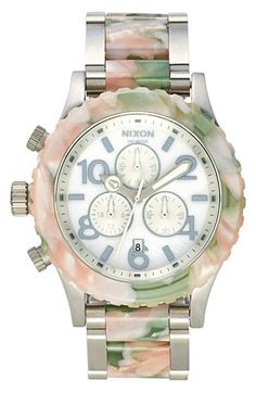 This is just beautiful  Nixon 'The 42-20 Chrono Watercolor' Bracelet Watch available at #Nordstrom