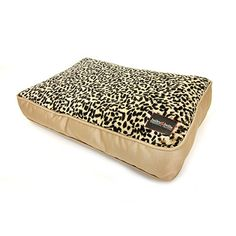 Give your diva a perfect perch, this Bailey & Bella Print Plush Pillow Bed in Leopard