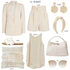 THE EDIT // INTERMIX FIONA TAILORED BLAZER   KAMRON BELTED SHORTS