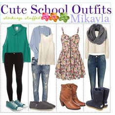 Cute school outfits. Link includes various Back to School ideas