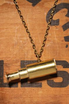 Brass Telescope Necklace that Extends.