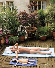 every little girl should have such a friend with which to sunbathe