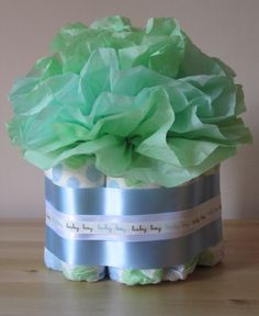 diapers and tissue flowers