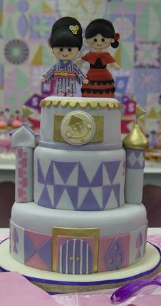 Small World cake at a girl birthday party!  See more party planning ideas at CatchMyParty.com!