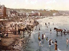 Douglas beach, Isle of Man,  between 1890 and 1900