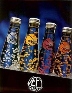 Orbitz drinks! circa. 1997. short lived product.