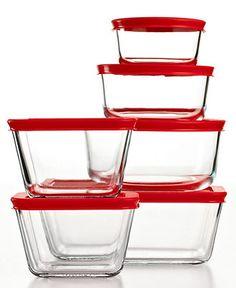 Pyrex Food Storage Containers, 12 Piece Set Plus - Bakeware - Kitchen - Macy's