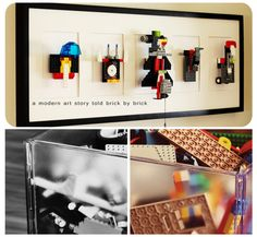 LEGO wall art for Jonas' room!