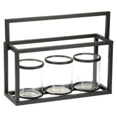 Contemporary Triple Candle Holder - 9