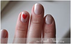Heart accent nail