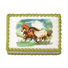 another edible image with horses