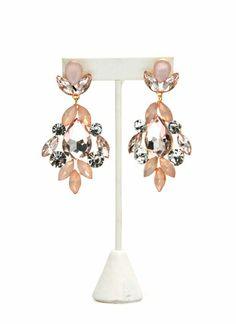 Glamorous Faux Jewel Earrings