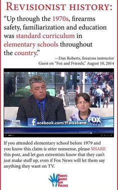 Share this if you know it's total BS. I was in elementary school in the mid-70s and guns/gun safety were never, ever part of the curriculum.