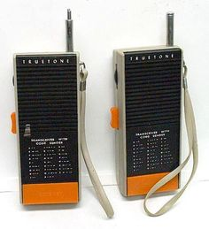 Walkie Talkies - This was a popular Christmas present for kids in the late 70s.