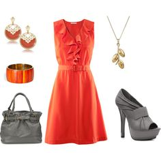 Here is tangerine again....the hot, hot color right now; I love these shoes.  Everything in this set is very reasonable.......surprise!
