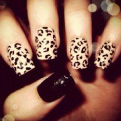 leopard print acrylics