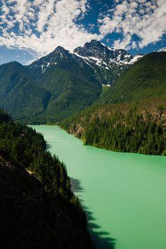Glacial waters of Ross Lake, North Cascades, Washington.