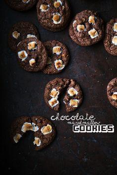 Chocolate marshmallow cookies (recipe in Swedish & English)