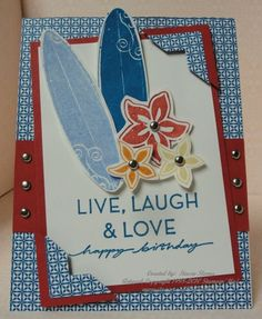 just surfing stampin up | Just Surfing is on it's way out so don't hesitate to purchase this ...