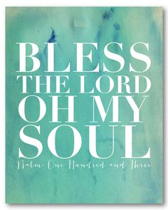 Naptime Diaries - Bless the Lord Canvas Print (24x30) $150