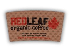 Red Lead Organic Coffee custom printed Java Jacket™ coffee sleeve.