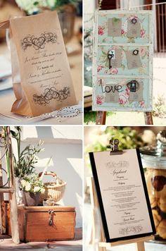 Vintage wedding stationery for a farm wedding. Stationery: Green Wedding. Photo: Desmond Louw