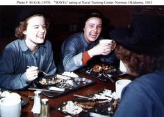 WAVES eating at Naval Training Center, Norman OK. 1943.