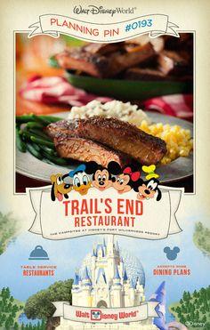 Walt Disney World Planning Pins: Trail's End Restaurant