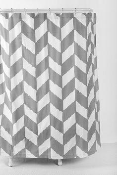or this Herringbone Shower Curtain  #UrbanOutfitters