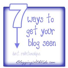 ★☯★ 7 Ways to get your blog seen - #Infographic ★☯★ @Jamie Wise [hands on : as we grow]  Other ways than #social #media to gain more readers, #followers and pageviews.  Here are a few other things you can do to get your blog out there for people to see! #Marketing #Infographic #Infographie #stat #data    #OMG #Goodies #Stuff #web #social #media #socialmedia #network #networking #Tech #Hightech #technology