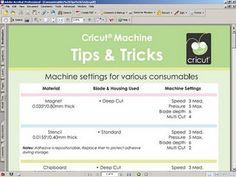 cricut machine tips and tricks