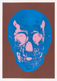 Milk Chocolate Brown True Blue Bubblegum Pink Skull - Damien Hirst