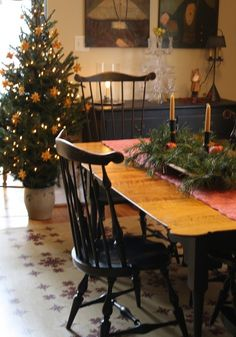 Colonial dining room