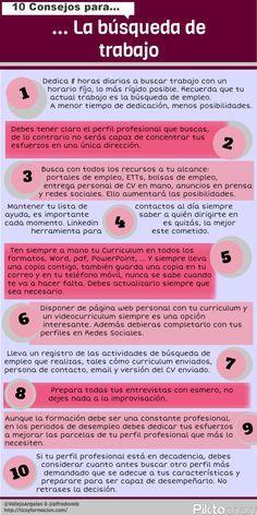 10 consejos para la búsqueda de #trabajo #infografia