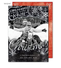 Dreaming of White a Christmas Photo Card by Bonnie Marcus