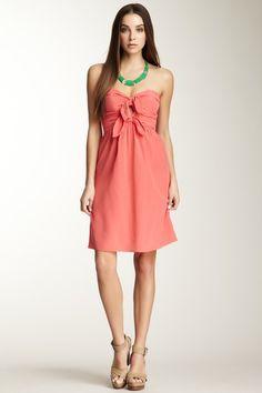 Ava Silk Tie Front Dress