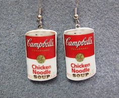 Campbell's Soup Can Earrings
