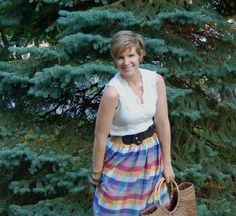 Plaid Skirt made from Dress by academichic, via Flickr
