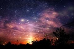sky, night skies, sunset, stars, christmas