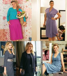 A collection of plus size sewing patterns, old and new.