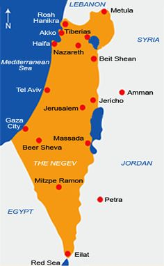 Israel, so small and yet so interesting - Map of Israel