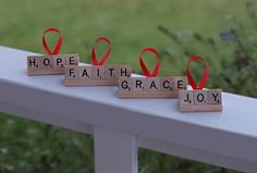 scrabble ornaments for the kids!