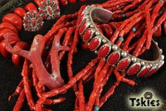 Native American Coral Jewelry More Jewelry Here: https://tskies.com