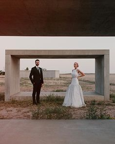 Two Brooklynites got married in Texas — and the photos belong in a museum